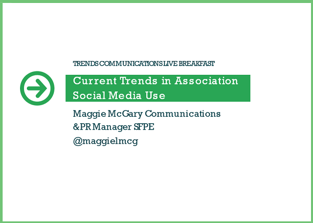 Current Trends in Association​ Social Media Use