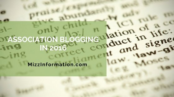 Association Blogging in 2016