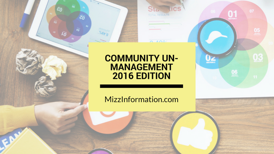 Community Un-Managing Cheat Sheet, 2016 Edition